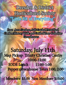 Dresden & District Horticulture Society Tour @ Trinity Christian Centre | Dresden | Ontario | Canada