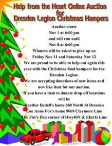 Legion Christmas Basket - Auction Nov 1st-8th @ Online