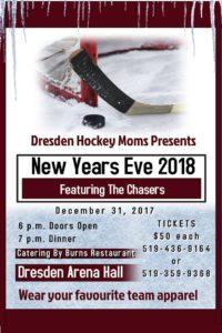 Dresden Hockey Moms New Years Eve 2018 @ Dresden Arena   Dresden   Ontario   Canada