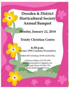 Dresden & District Horticultural Annual Banquet @ Trinity Christian Centre | Dresden | Ontario | Canada