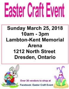 Easter Craft Event @ Dresden Arena | Dresden | Ontario | Canada