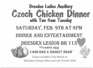 Czech Chicken Dinner @ Dresden Legion