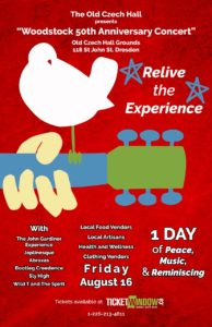 Woodstock 50th Anniversary Concert @ Dresden Czech Hall