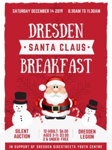 Dresden Santa Claus Breakfast- 2019 @ Dresden Legion