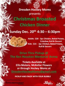 Hockey Moms Christmas Broasted Chicken Dinner @ Ken Houston Memorial Agricultural Centre